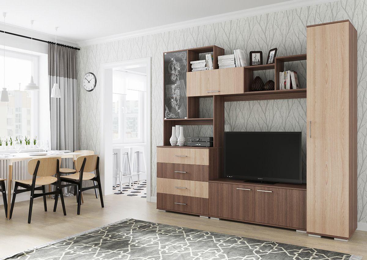 гостиная 7 с пеналом просто хорошая мебель интернет магазин